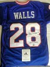 ~Emerson Walls Autographed Blue N.Y.Giants Jersey-SB XXV Champs-COA Included~