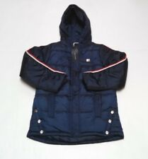Girls Tommy Hilfiger Puffer Jacket L 12/14 Hooded Full Zip Snap Lined Insulated