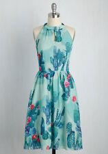 Modcloth Plus Size 4X  Novelty Cactus Print Halter Midi Dress