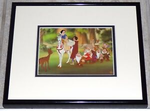 DISNEY SNOW WHITE AND THE SEVEN DWARFS HAPPILY EVER AFTER FRAMED CEL PROMO CARD