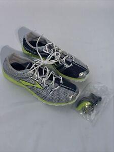 Brooks Track & Field 1200621B795 Silver Spikes Shoes Men's Medium 9.5