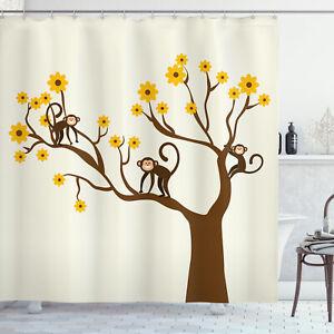 Funny Shower Curtain Climbing Cute Kids Fun Print for Bathroom