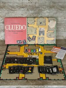 CLUEDO Vintage Board Game By Waddingtons 1980s Complete