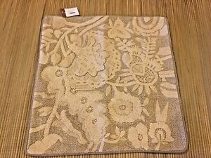 "NWT  Pottery Barn ~Bernadette Neutral Colors Embroidered Pillow Cover 22"" x 22"""