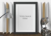 Photo Picture Poster Frames with White Mounts Black White Oak Silver
