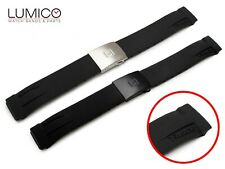 For T-RACE watch TISSOT 21mm Rubber Silicone Strap Band Clasp Buckle BLACK