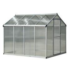 Appoggiati a Serra Alluminio Policarbonato coltivare le piante growhouse giardino 4,09m³