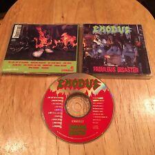 Exodus - Fabulous Disaster CD 1st US JVC press metallica slayer sadus testament