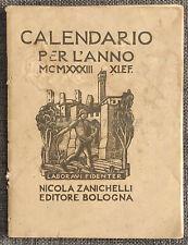 CALENDARIO ANNO 1933 Laboravi Fidenter, Nicola Zanichelli, Diego Pettinelli