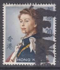 Hong Kong sc#217 1962 $20 QE2 used - '12 scv$27.50 - b21006