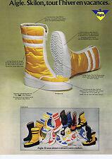 PUBLICITE ADVERTISING 064 1973 AIGLE Skilon tout l'hiver en vacances chaussures