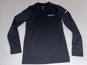 Nike NFL Men's Minnesota Vikings Official On Field Dri-Fit Long Sleeve Shirt, S
