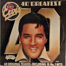 ELVIS PRESLEY~40 GREATEST~ADE P 12~1975 UK VINYL 2LP