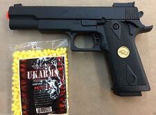 BEST QUALITY FULL SIZE SPRING AIRSOFT GUN PISTOL  WITH FREE 1000 BB'S PELLET