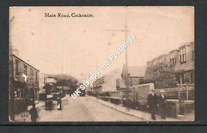 Main Road Cockenzie East Lothian 1917 Posted Card With Tram Etc As Scanned