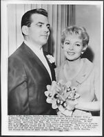 ~ Lana Turner 1961 Original Candid Stamped Press Photo 1961 Wedding