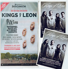 KINGS OF LEON  2017 HYDE PARK ADVERT & 2013 TOUR FLYERS X 2