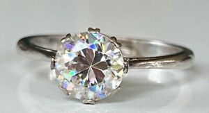 1. Carat QUALITY 18CT GOLD SOLITAIRE MOUNT WITH PLATINUM WHITE STONE Cz