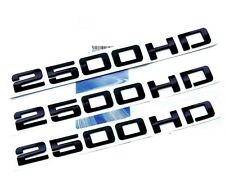 3x OEM Black 2500HD Nameplates EMBLEMS Badges Silverado Sierra Front rear FU