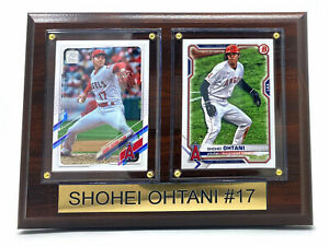 2021 Shohei Ohtani Los Angeles Angels Two Card Plaque Topps #150 Bowman #85 New