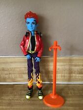 Monster High Holt Hyde Original 1st Wave Doll Stand Headphones Clothes