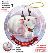 Rat Christmas Holiday Ornament Up To Snow Good