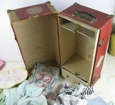 "Antique 1930's Doll Trunk Full of Doll Clothes 10"" to 16"" Size Doll"