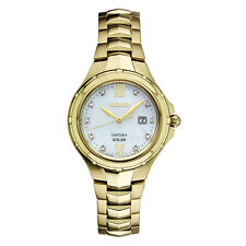 *BRAND NEW* Seiko Women's Diamond Accent Gold  Stainless Steel Watch SUT310
