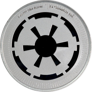 1 oz Silver Coin Niue 2021 Star Wars Galactic Empire BU .999 $2 with Capsule