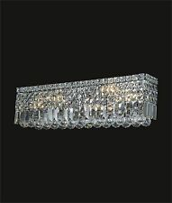 """Large 6-light CRYSTAL WALL SCONCE (W26""""x H6.5"""" E4.5"""") CHROME Contemporary Design"""
