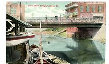 Chester PA - THIRD STREET BRIDGE FROM DOCK - Postcard