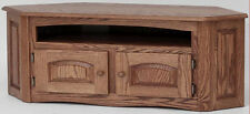 #896 Solid Wood Oak Country Corner TV Stand