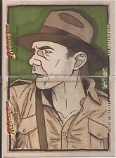 "Indiana Jones Crystal Skull - Jamie Snell ""Indy"" Complete 2 Panel Sketch Card"