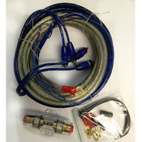 1200W CAR AMPLIFIER RCA AUDIO 8 GAUGE WIRING 50AMP AGU FUSE Complete CABLE KIT