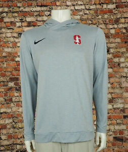 Nike Dri-Fit Stanford Cardinal Gray Pullover Hoodie Shirt Mens Large