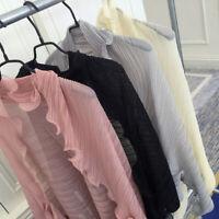 Summer Women's Ruffle Chiffon Sun-protective Long Sleeve Scarf Shawl Tops