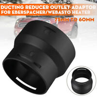 75mm To 60mm Ducting Reducer Outlet Adaptor Converter For Webasto Diesel Heater