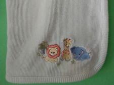 Koala Baby Thermal Waffle Weave Green Cotton Jungle Blanket Lion Giraffe  LIR