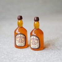 "2x Mini Prop Whisky Bottle For 1/6 Scale Male 12"" Action Figure 1:6 Model HT Toy"