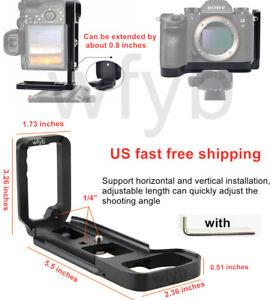 L Plate Bracket Camera Grip dock Holder for Sony A7RIII A9 A7 III ILCE-9 (Black)