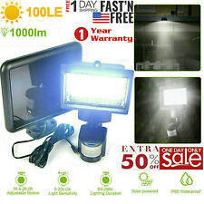 100LED Solar PIR Motion Sensor Security Outdoor Garden Waterproof Wall Light