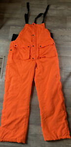 Northwest Territory Orange Hunting Pant Bibs Coveralls Overalls Size Large