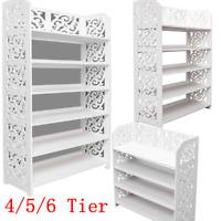 4/5/6 Tier Storage Organizer Standing Shoe Rack Shelf Cabinet Space Saving US