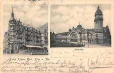 Koln Germany Hotel Kolner Bahnhof Train Station Antique Postcard J66421