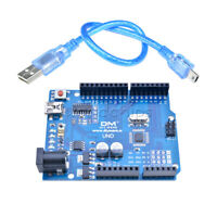 ATmega328P CH340G Microcontroller UNO R3 Board USB Board &Cable Rl ATmega16U2