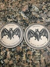 Set Of 2 Barcardi Wooden Coasters