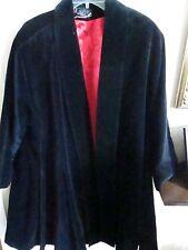 # Vintage Formal Holiday Evening Coat J.L. deBall Velvet feel Black