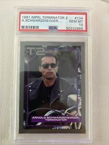 1991 Impel Arnold Schwarzenegger - Rookie Trading Card - PSA 10 - Terminator 2