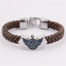 The Legend of Zelda Sign Enamel Charm Bracelet Knitted Wristband Cosplay Jewelry