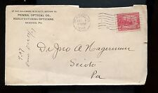US Advertising Cover (Penna. Optical Co) 1901 Reading, Pa to Sciota, Pa